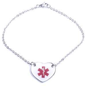 Heart Medical Alert Bracelet