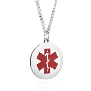 Personalised Medical Alert 925 Sterling Silver Necklace