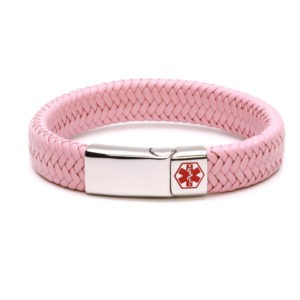 Pink Waterproof Medical Alert Bracelet