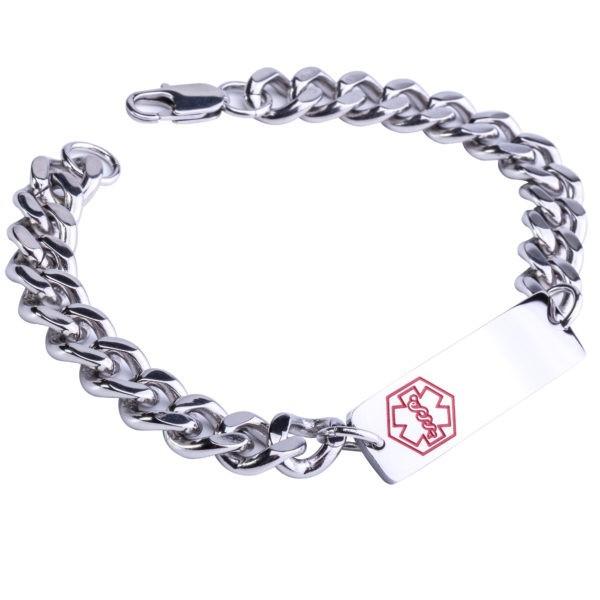 Stainless Steel Medical Alert Bracelet